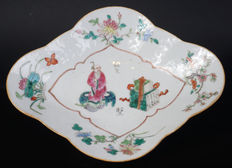 Famille rose porcelain Wu Xuan Bu dish - China - 19th century