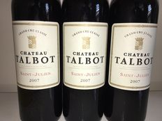 2007 Chateau Talbot, Saint-Julien 4ème Grand Cru Classe – 3 bottles