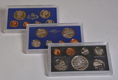 Australia and New Zealand - Coinsets 1969, 1970 and 1974