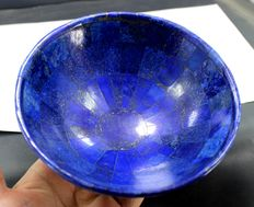 Hand-crafted, stunning Royal Blue Lapis Lazuli bowl - 148mm - 571gm