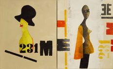 Suzanne Visser - diptych without title