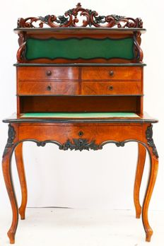 William III mahogany writing desk with upright partition - the Netherlands - ca. 1860