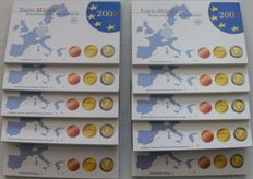 Germany –Year collections 2002A, D, F, G and J + 2003A, D, F, G and J (10 in total), complete