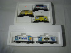"Marklin H0 - 46425/94186 - 1 set closed carriages and 1 set various refrigerating carriages ""Henkel"""
