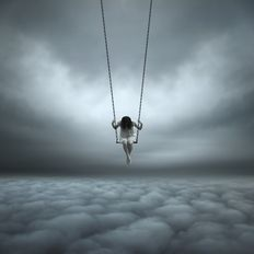 Philip Mckay (1963-) - Above the clouds