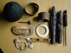 Collection of 11 objects - ASMAT, Sepik - Western Papua