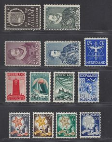 The Netherlands 1933 - complete year - NVPH 252/255, 256, 257/260 and 261/264.