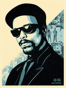 Shepard Fairey (OBEY) - Ice T (OG Blue)