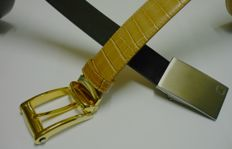 two montblanc belts