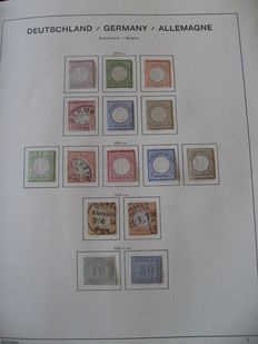 Germany 1872 - Series of stamps - Yvert no. 1 to 11