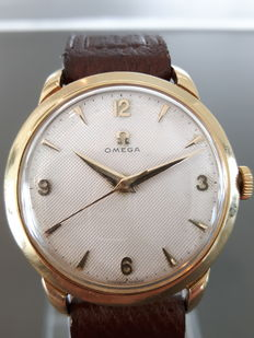 Omega Honeycomb dial 18 kt gold men's wristwatch - 1960s