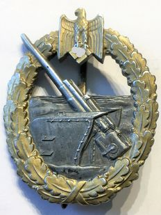 1941-1945 Third Reich naval artillery war badge