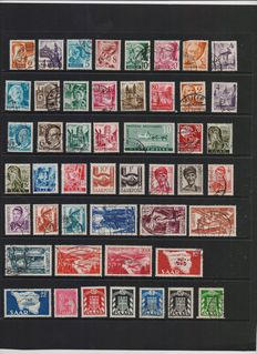 Saarland collection from 1948 to 1958 – Michel no. 206 to 447