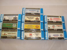 Märklin H0 - 10x Refrigerated beer vans, various limited edition liveries (Lot 14)