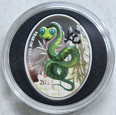 Niue – 1 dollar 2013 'Year of the Snake' – silver