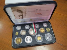 "Republic of Italy – Divisional coin series, 1995 Proof – ""Mascagni"" (including silver)"
