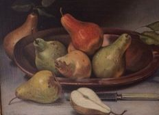 J.F. Meijer (20th century)  - Still life with pears