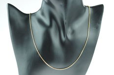 14 kt gold necklace, Venetian link, sturdy execution, length 47 cm