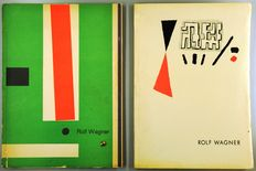 Rolf Wagner; Lot with 2 exhibition catalogues, including two signed lithographs - 1953 / 1955