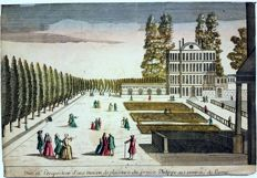 Unknown artist (18th century) - Optical engraving of The Lust Home of Prince Philipus in Parma Austria - c. 18th century