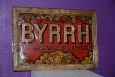 Sheet metal embossed Byrrh