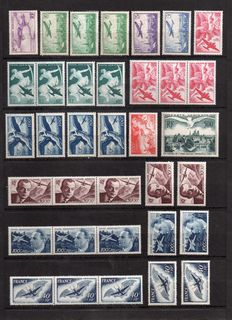 France 1934/1959 - Selection of duplicated Air Post - Yvert PA No. 7/36, sales stock