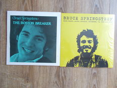 Bruce Springsteen  , The Boston Breaker  , Rare Live At The Music Hall , Boston Mass , 3.25.1977 , 3 Lp Colored Vinyl Green And Lp Live Wgoe Radio ,Alpha Studio, Richemond , VA.31 St May 1973