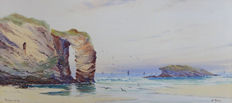 S. Perry (English school from the first half of the 20th c.) - The Natural Arch (Perranporth)