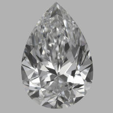 0.70 Carat Pear Brilliant Diamond, DSI1, GIA Report