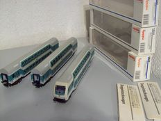 Märklin H0 - 43581/43582/43583 - 3 double deck carriages of DB, with steering position carriage