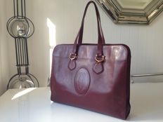 Cartier: Cartier: Large holdall handbag made of leather.
