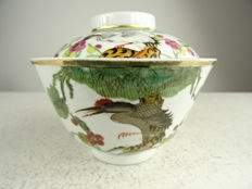 Porcelain tea cup with lid - China - Republic period (1912-1949)