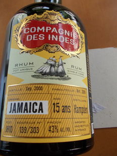 Jamaica 15 Year Old - Hampden Distillery - 70cl & 43% - 303 bottles only.