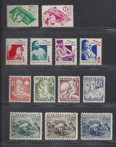 The Netherlands 1930/1931 – four different, complete issues.