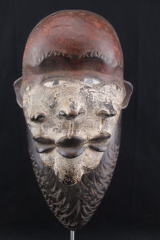 Mask with 3 faces - PENDE - D.R Congo