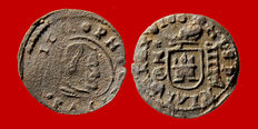 Spain – House of Austria – Felipe IV (1621-1665). 4 copper maravedis (0.82 g, 15 mm). Cuenca, 1663. Very scarce.