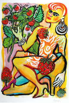 Elvira Bach - In the Strawberry Grove