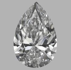 0.40ct Pear  Brilliant Diamond D IF  IGI  -Original Image-10X - Serial# 1698