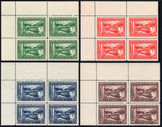Republic of San Marino 1932, Railway, complete set of 4 quartine.