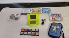 Complete Nintendo DS Lite - Lime Green  with 15 games.