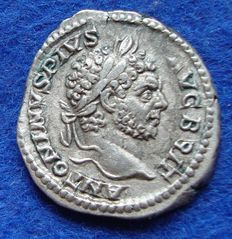 Roman Empire – Denarius of Caracalla (198-217 A.D.), from Rome (P483)