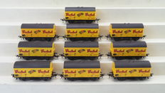 "Fleischmann H0 - 5045/5048 - 10 piece lot with closed goods wagons ""Grolsch"" of the NS"