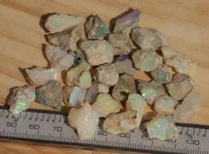 Lot with Welo opals - 128 carats ( 30 )