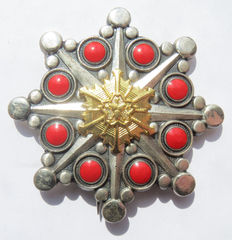 Japanese Yamagata chest star for merit for fire fighting. -20th century