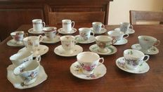 14 Pieces exclusive cups and saucers and a Room set - Paragon - Royal Vale - Epiag ect ect