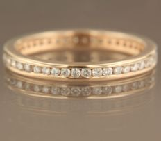 14k rose gold full eternity ring set wit brilliant cut diamonds ****NO RESERVE PRICE***