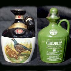 2 decanters - Rutherford's & Chequers (John McEwan) - 12 Years