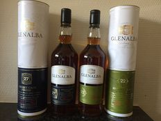 2 bottles - Glenalba 27 years old & Glenalba 22 years old
