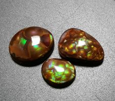 Lot of Fire Agate - 17.58. (3)