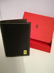 Ferrari red leather wallet